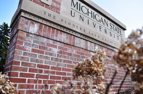 Michigan State University, the university that Zoe James (12) is planning to attend. Due to COVID, James and many other seniors struggle with college admissions.