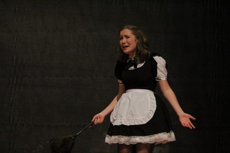 Eliza Elliott dressed up as a maid during the Fall production of 2019, Clue