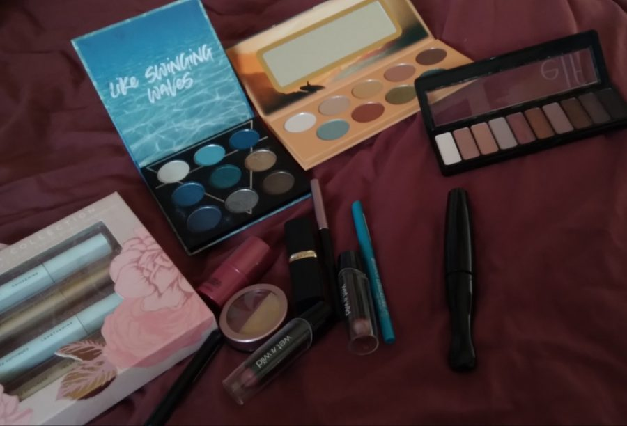 Zufan Johnson (11) displays various makeup pallets she has practiced makeup with during her stay at home. Photo courtesy of Zufan Johnson.