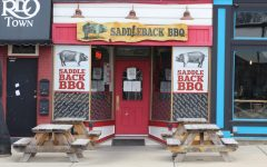 Saddle Back BBQ on Washington Ave. in downtown Lansing on  Dec. 22. Photo by Piper Dufner.