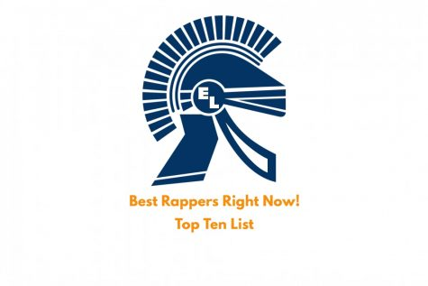 "Trojan Logo above text saying ""Best Rappers Right Now! Top Ten List"""