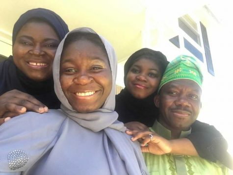 Eman and Ghaliya Lasisi posing for a selfie with their parents on Eid.