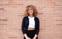 Anaiis Rios-Kasoga (12), pictured May 25 outside ELHS. Annais, as the student body president, will be giving the graduation speech this year. In a normal year, the speaker is chosen based on the merit of their speech by Student Congress. Photo by Aliyah Pratomo