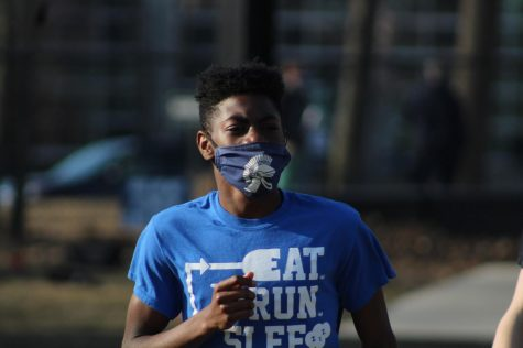 Jayden Page practices on the track on March 9.